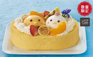 親子で食べるロールケーキ