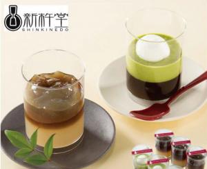 新杵堂 ほうじ茶ゼリー&抹茶ムースセット