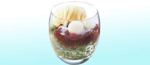 ココス宇治抹茶と北海道あずきのかき氷