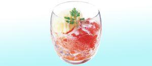 ココス果肉たっぷり苺のかき氷