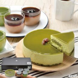 「京都吉祥庵」抹茶レアチーズケーキと京乃プリン詰合せ