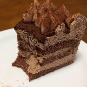 チョコレートケーキ断面