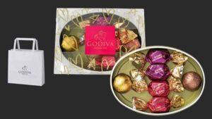 ゴディバ チョコレート オーバル缶 6粒入