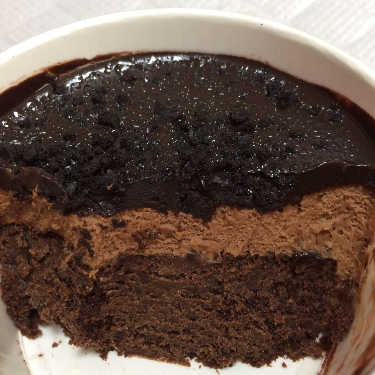 デビルズチョコケーキ断面