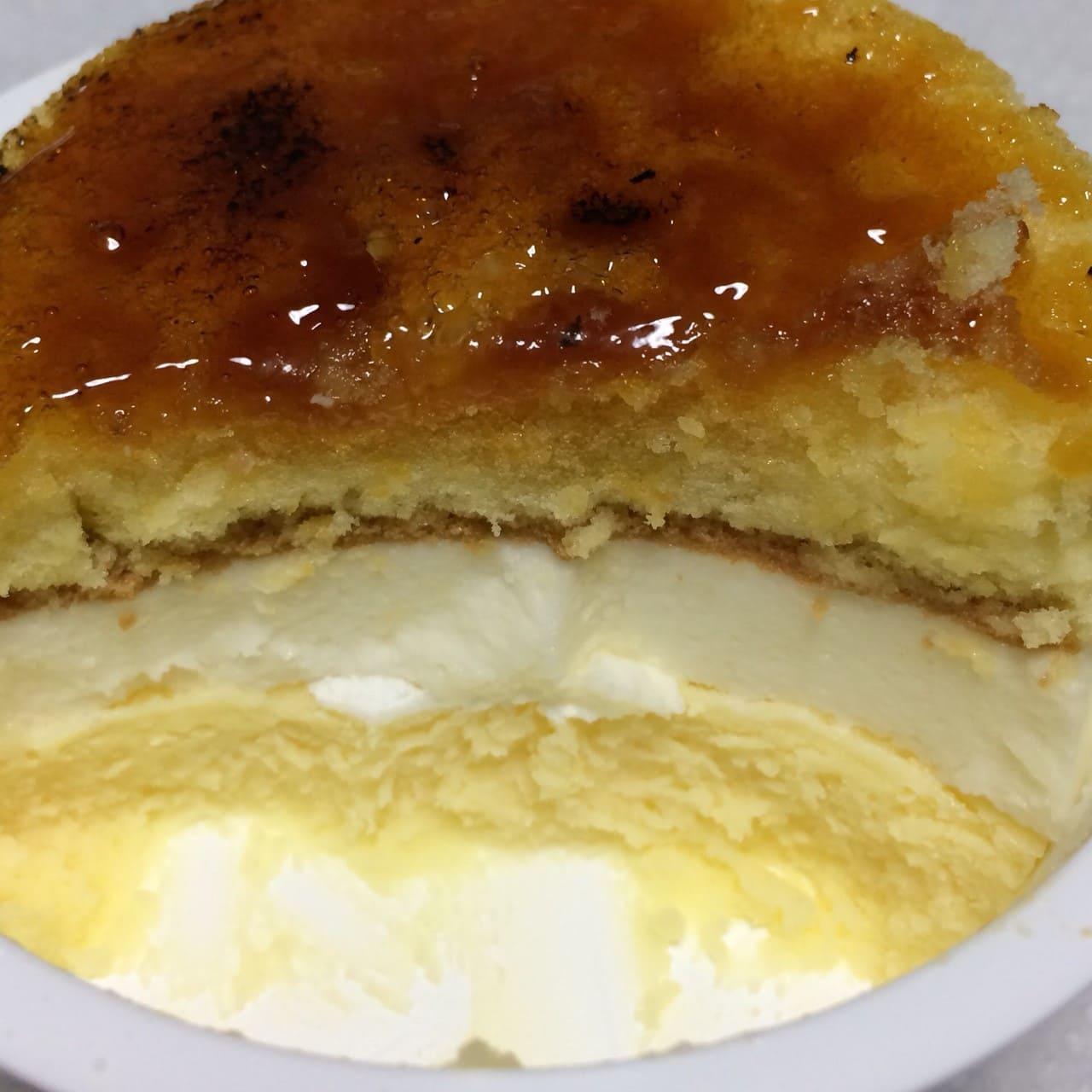 ブリュレチーズケーキ断面