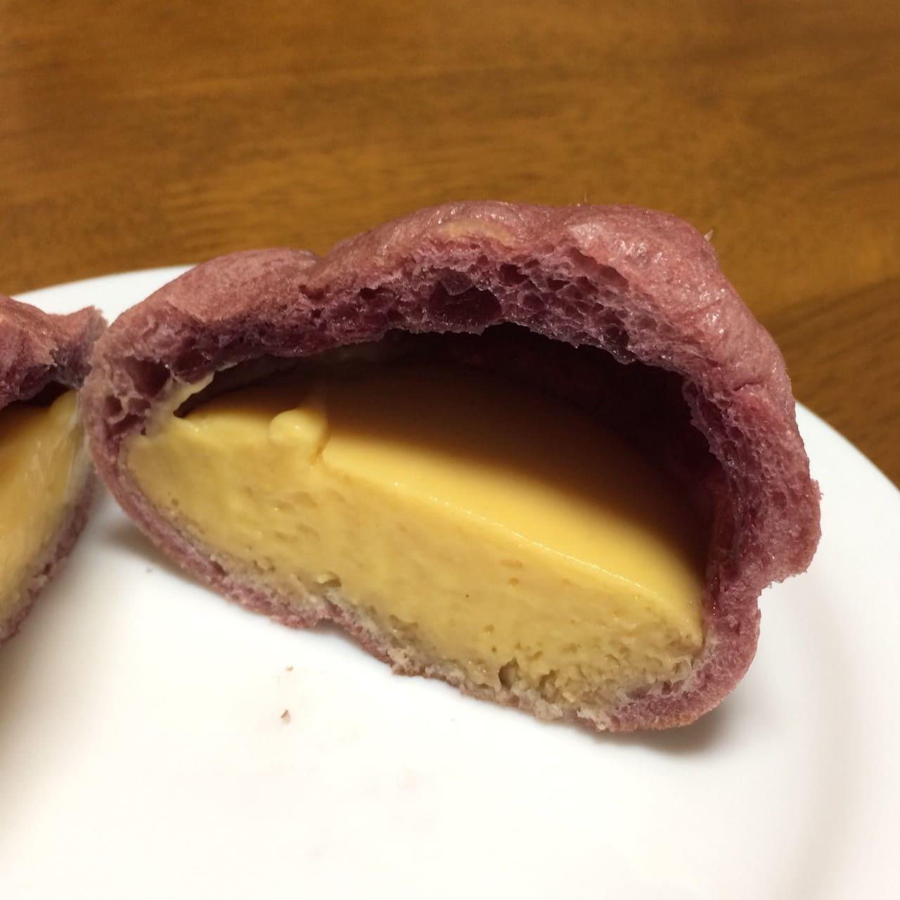 安納芋のシュークリーム断面