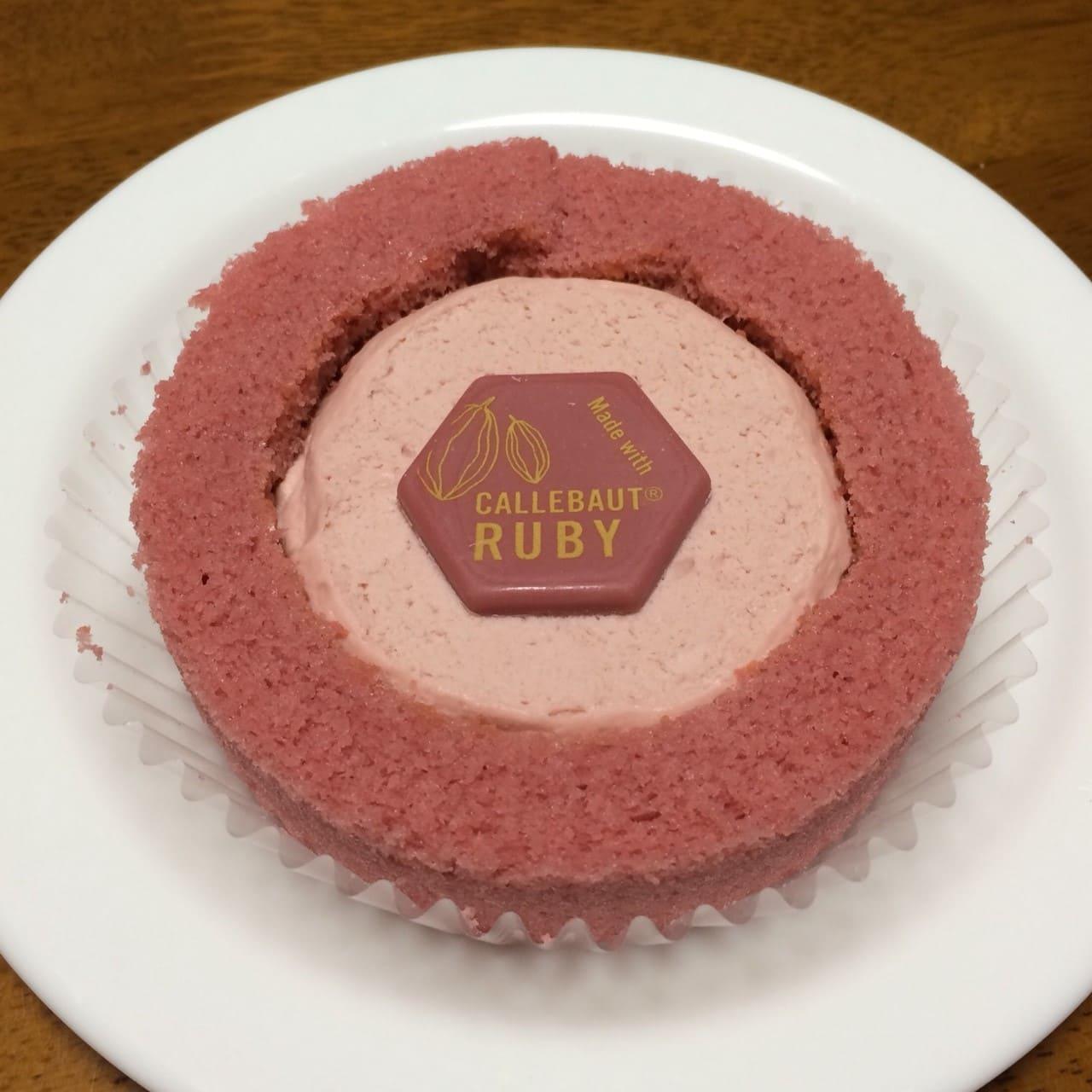 プレミアムルビーチョコレートのロールケーキ