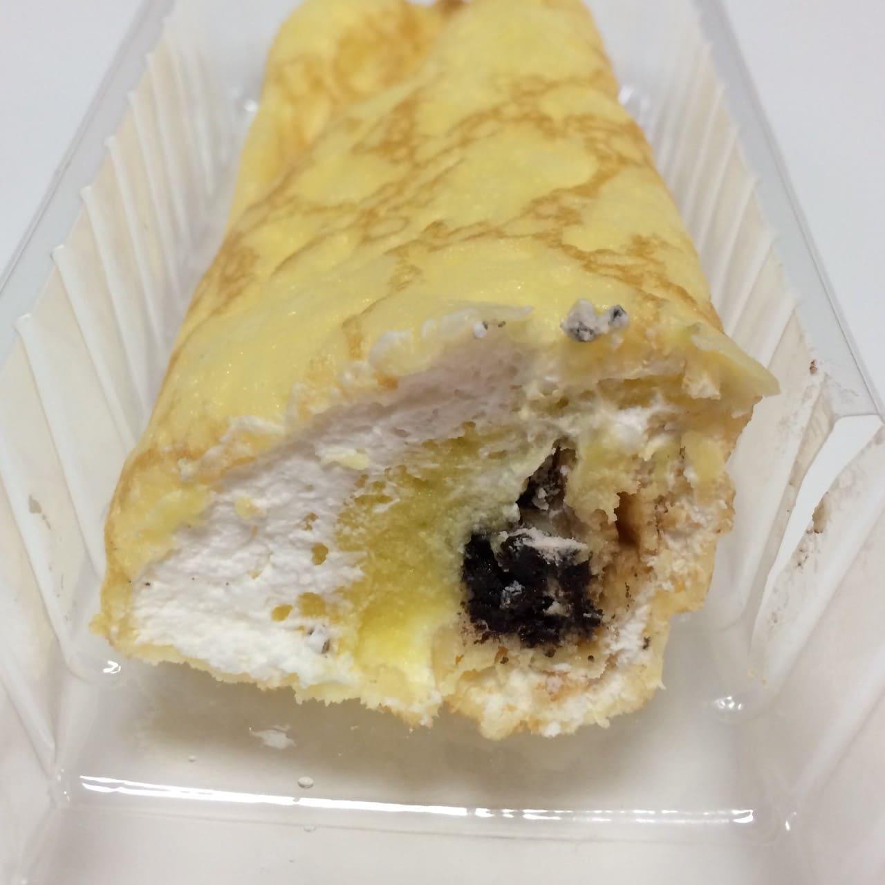 クレープ包み マロンクリーム&チョコクッキー断面
