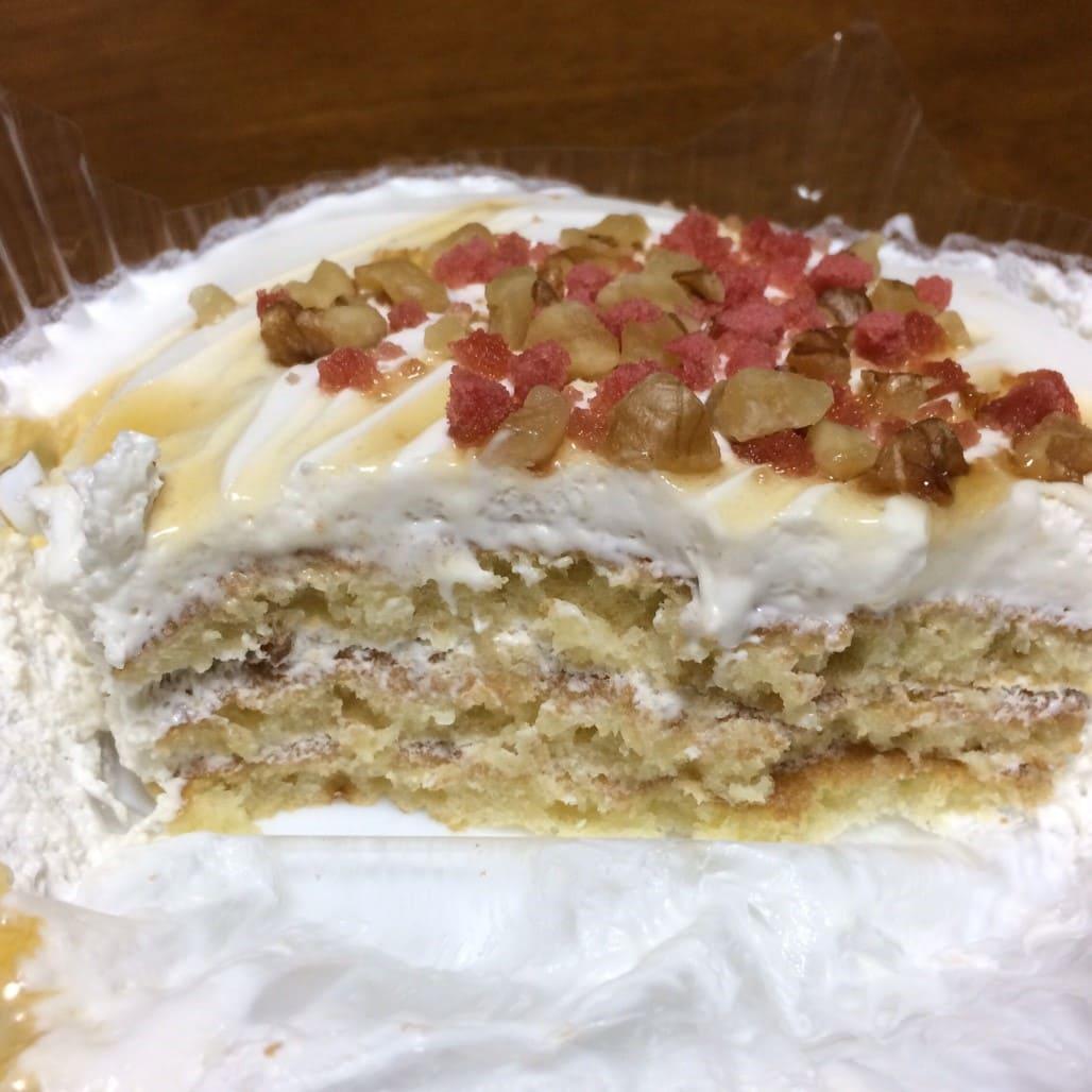 メープルクリームのパンケーキ断面