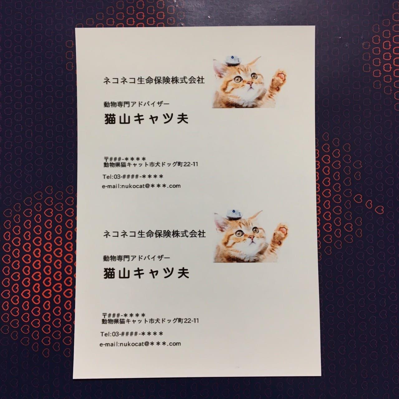 セブンイレブン名刺印刷方法38