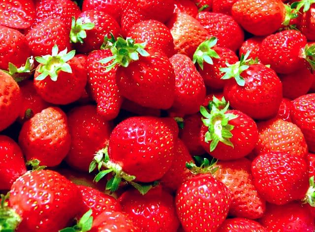 たくさんの苺