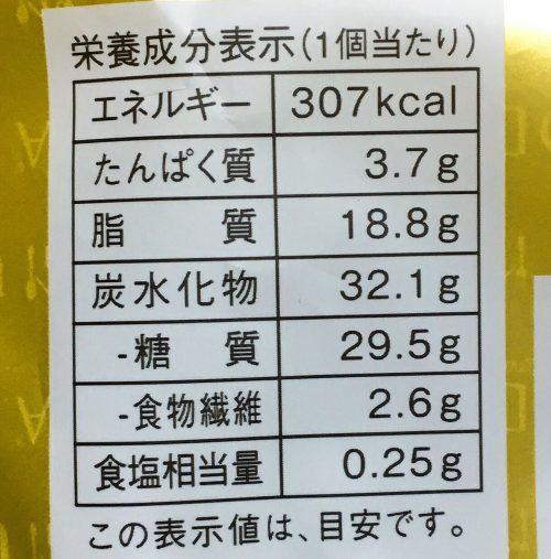 GODIVA ベイクドショコラストロベリー栄養成分表示