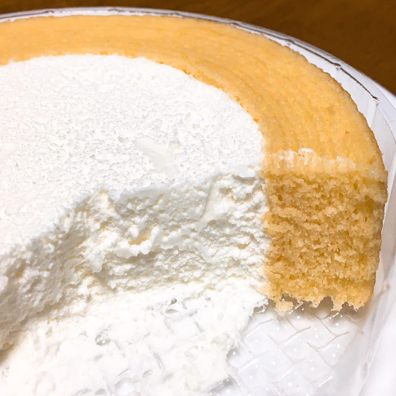 たっぷりクリームのバウムクーヘン断面