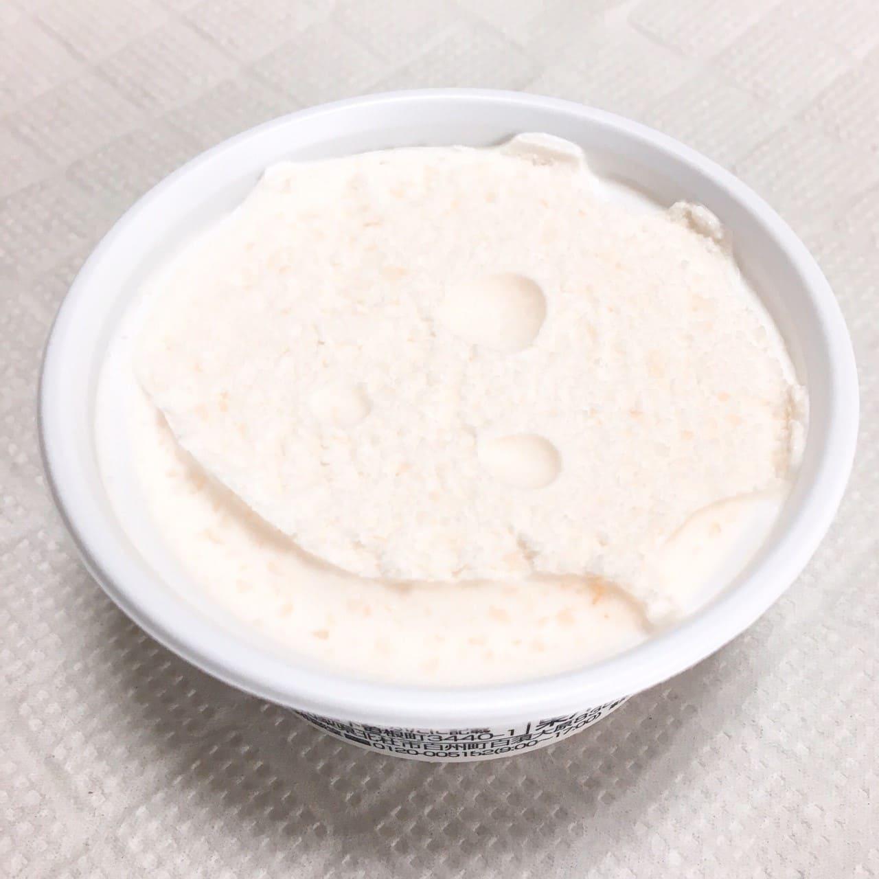 デザート氷クリーム仕立て 山梨県産白桃ヨーグルト風味