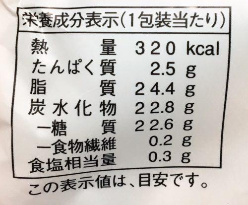 ホボクリム栄養成分表示