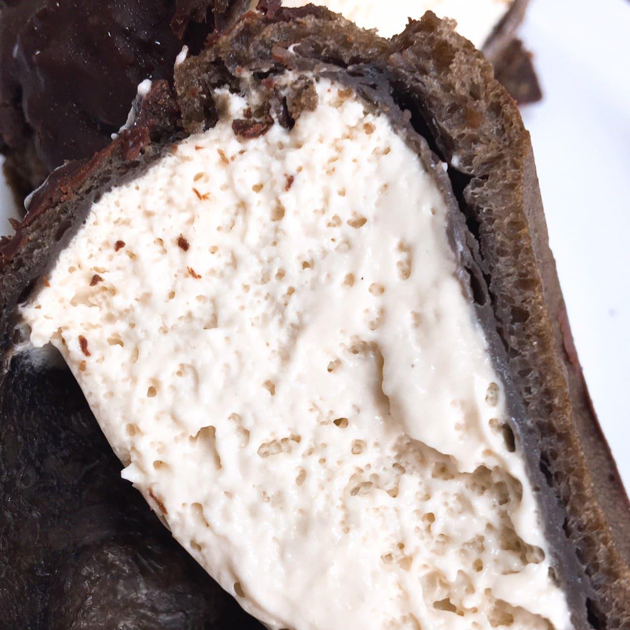ざくざく食感 チョコティラミスシューのクリーム