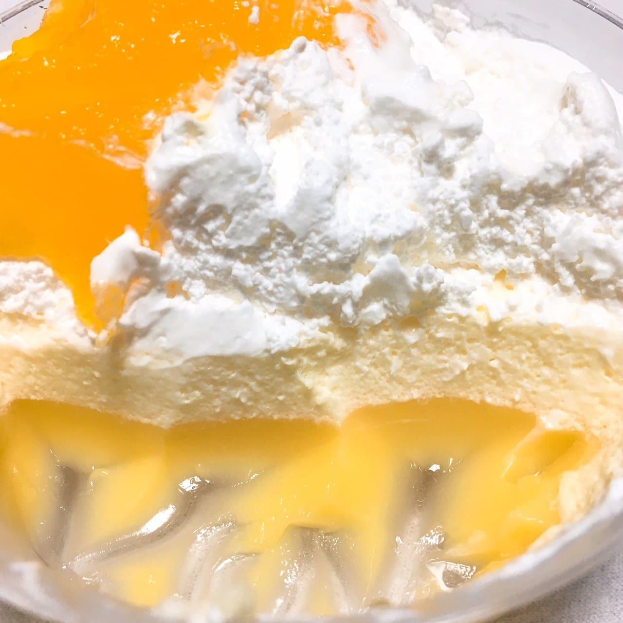 温州みかんと柑橘のパフェ断面