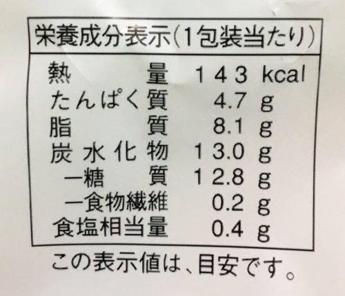 ふわしゅわ -ふわしゅわスフレ-栄養成分表示